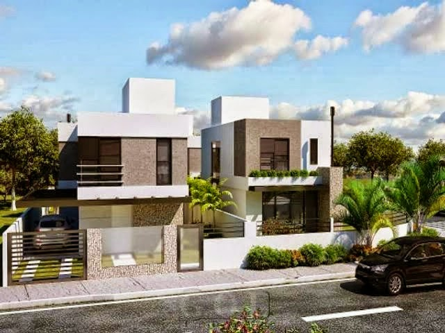 Casa fina decor fachadas de casas modernas casas sem for Fotos de casas modernas com telhado aparente