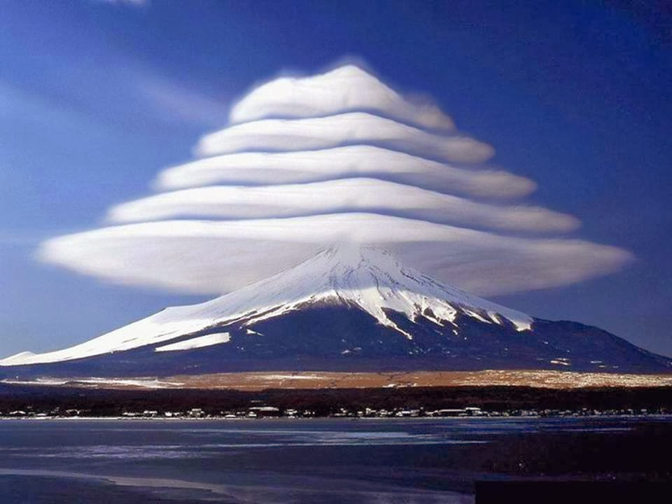 mount fuji, mountain, cloud