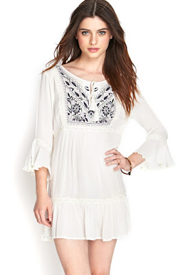 Embroidered Peasant Dress at forever21.com