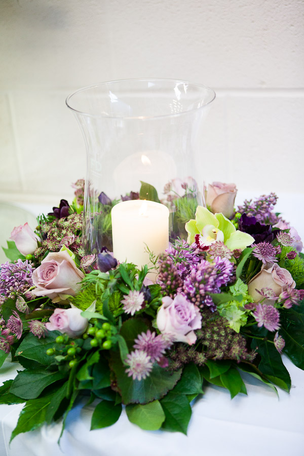 Find and save ideas about Table centerpieces on Pinterest. | See more ideas about Wedding centerpieces, Wedding table decorations and Wedding flower centerpieces. DIY and crafts Gallery: Copper lantern with church candle and greenery table centrepiece - Deer Pearl Flowers.