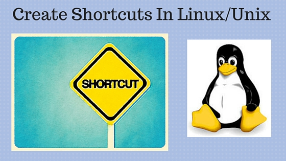 create shortcut in linux unix from command line