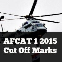 AFCAT 1 2015 Cut Off Marks