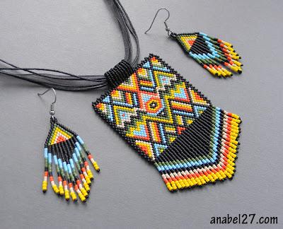 украшения из бисера африка этника яркие цвета Anabel