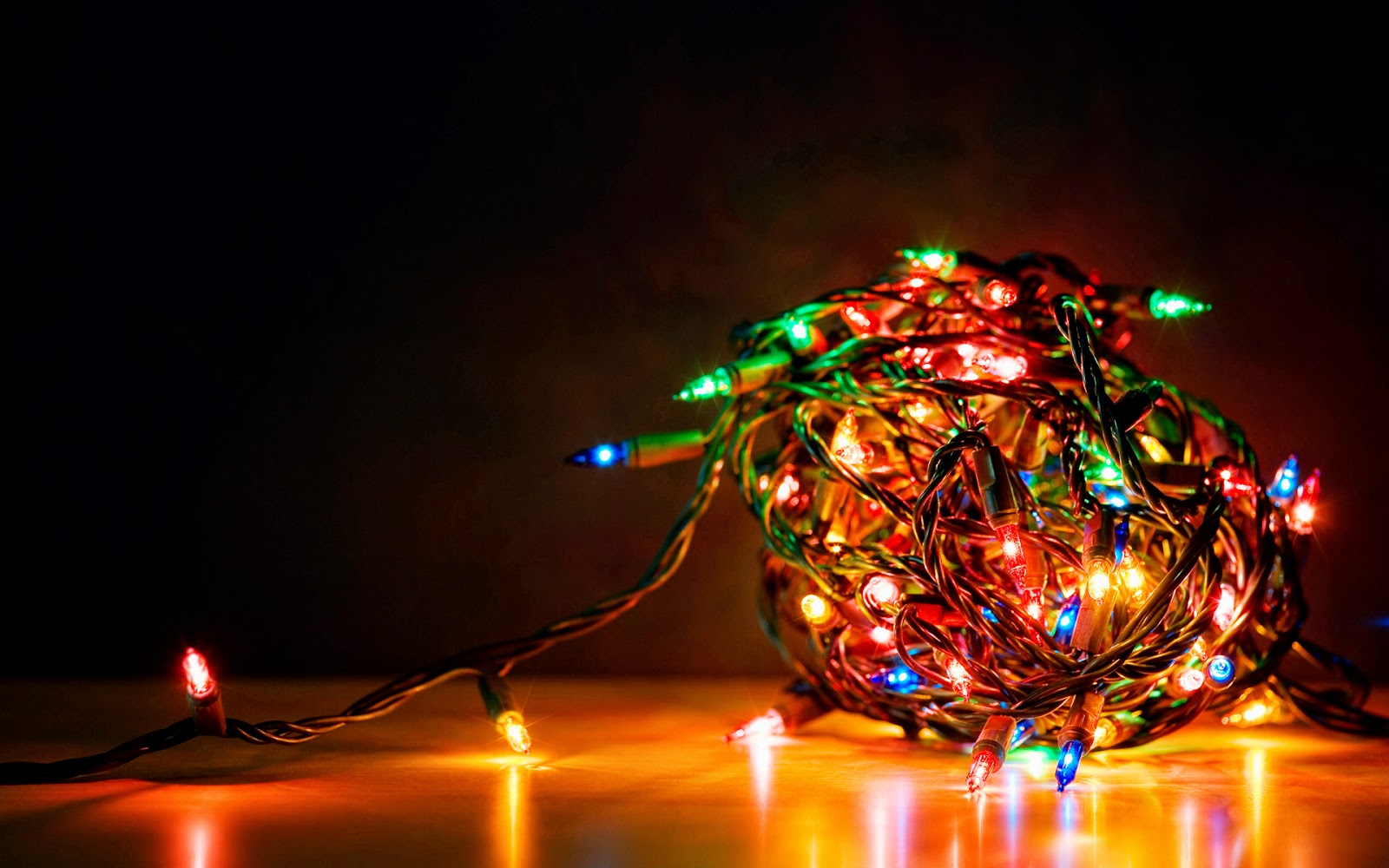 Remember to turn off your Christmas tree lights to save electricity and avoid a fire!
