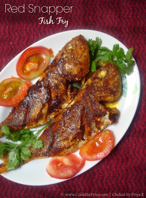 Cook Like Priya Red Snapper Fish Fry Sankara Meen