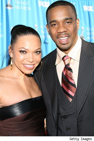 Tisha Campbell with cool, Husband Duane Martin