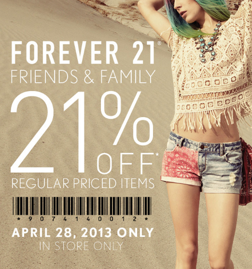 Forever 21 coupons discounts