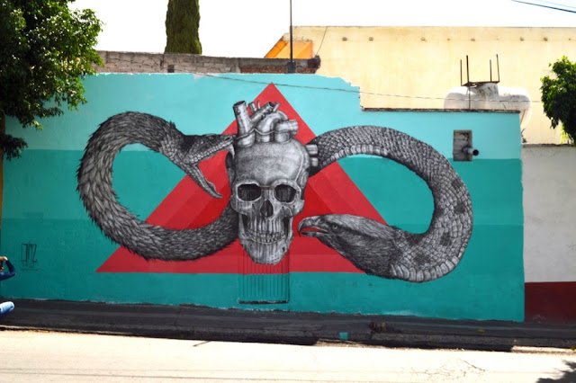 Street Art By Alexis Diaz For Board Dripper In Queretaro, Mexico. 7