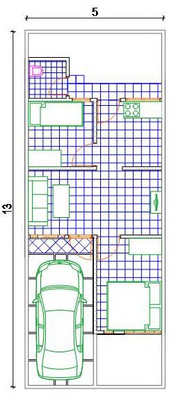 contoh rumah minimalis maksimalkan ruang dilahan 5 x 13