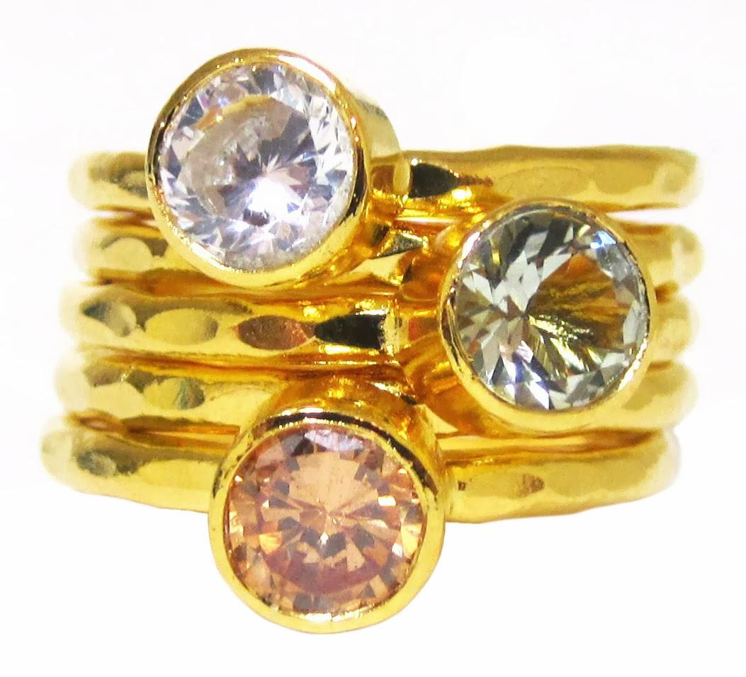 stacking rings, gold stacking rings