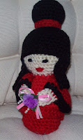 crochet kokeshi doll