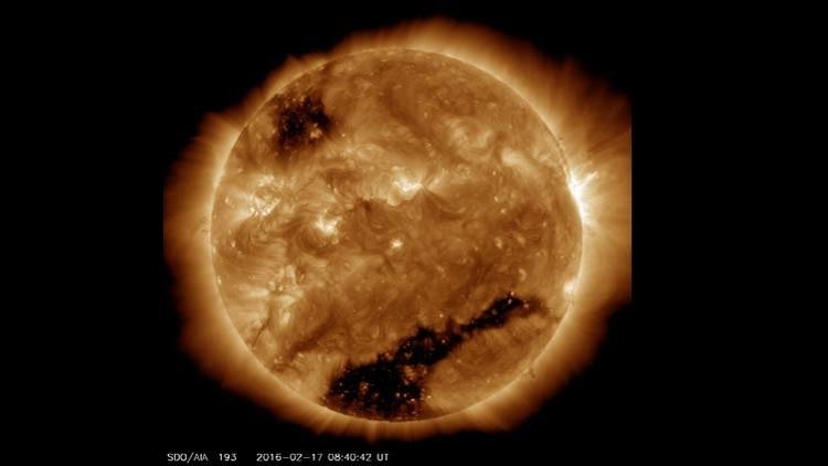 Agujero negro en el sol