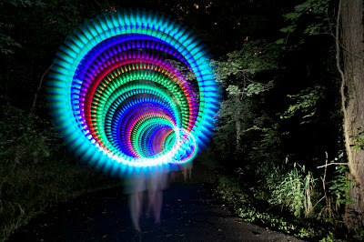 rainbow circle light trail
