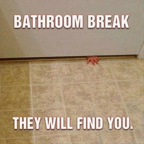 Things Moms Do In the Bathroom -- Moms are natural multitaskers. Even in the bathroom.  {posted @ Unremarkable Files}