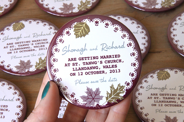 autumn design save the date