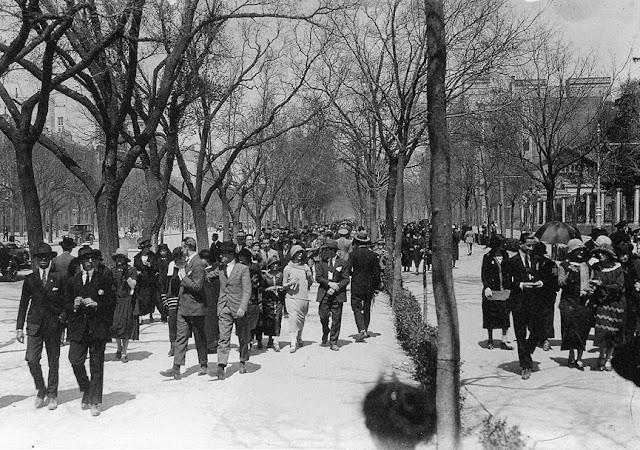 Paseo de la Castellana 1930 , Madrid