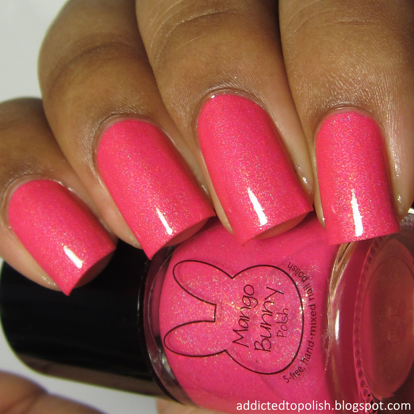mango bunny polish pinking about summer sunkissed neons