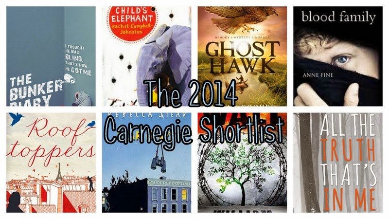 Carnegie Shortlist Short List 2014