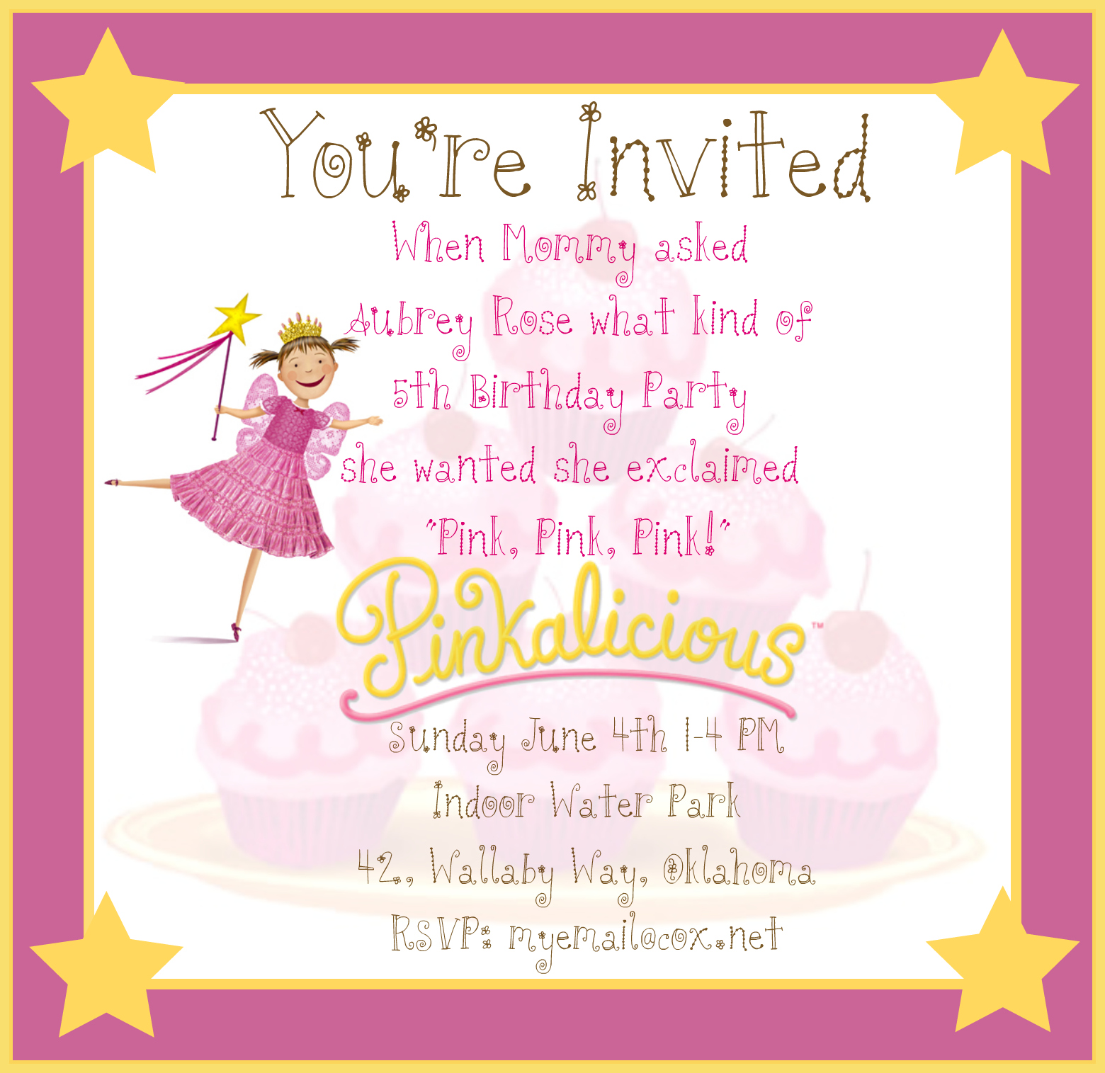 Running With Glitter A Pinkalicious Party Invitation – Pinkalicious Birthday Invitations