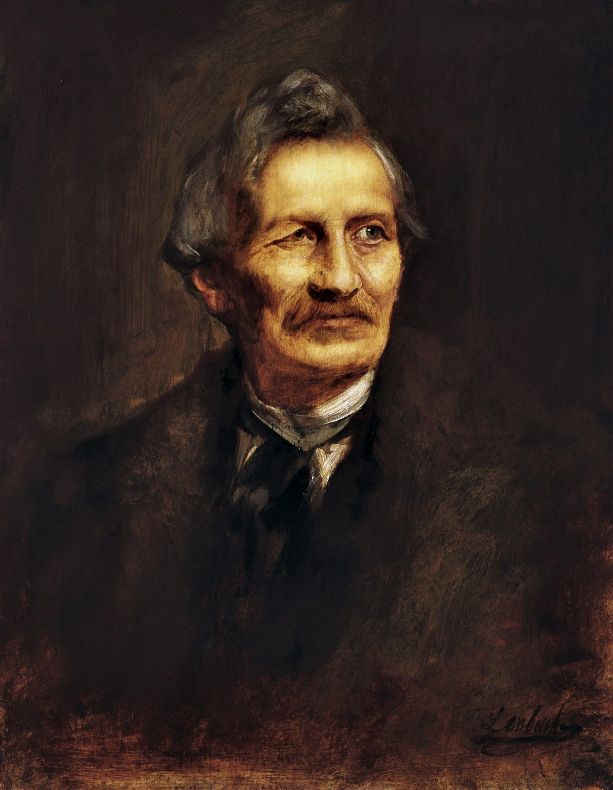 Franz  von  Lenbach  portrait  of  the  architect  gottfried  semper