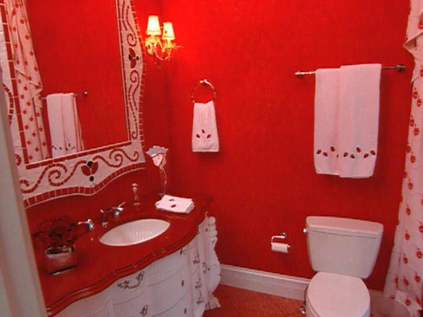 Baño De Color Rojo Fuego:Diseño y Decoración de la Casa: El Baño de Color Rojo