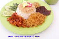 resep praktis dan mudah membuat (memasak) makanan nasi ulam spesial khas betawi enak, gurih, lezat