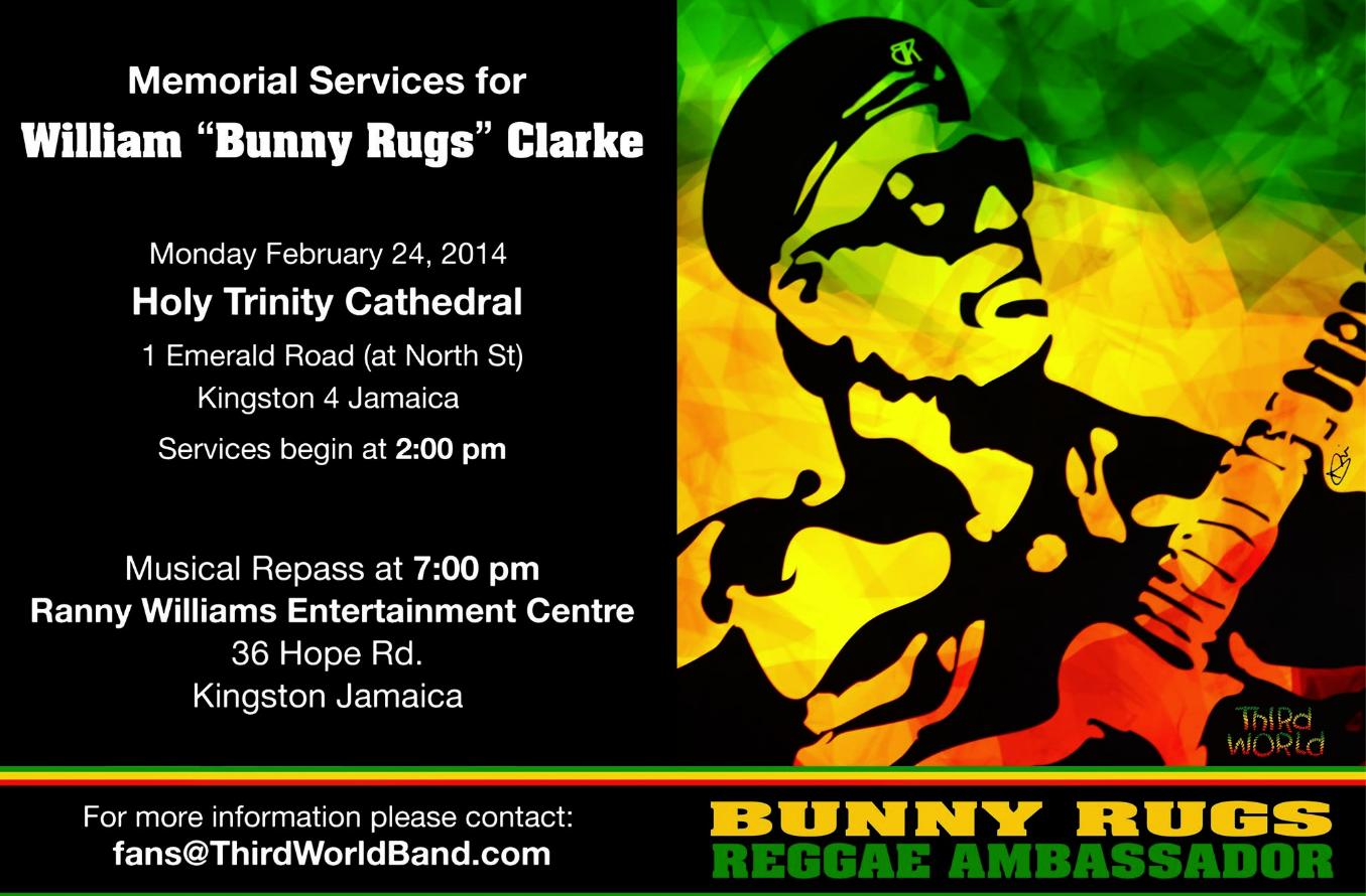 BunnyRugs-William Bunny Rugs Clarke-third world-reggae-memorial services-workwithroemer