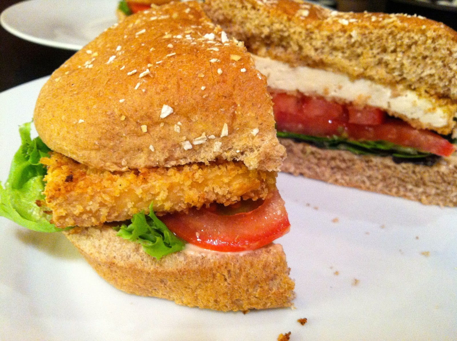 Crispy Tofu Sandwiches With Ginger Peanut Sauce Recipe — Dishmaps