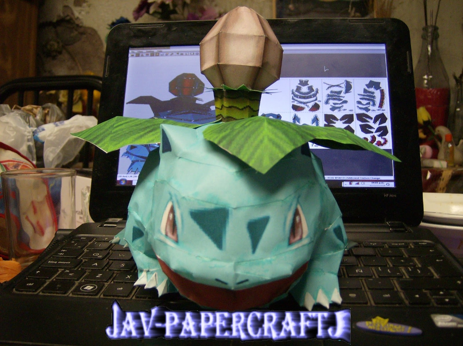 Pokemon Ivysaur Paper Model