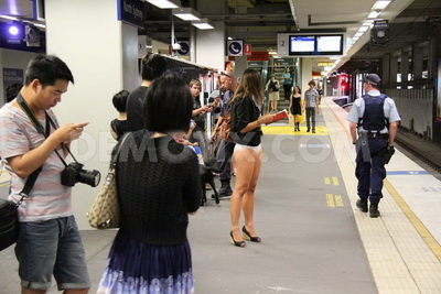 No Pants Subway Ride-6