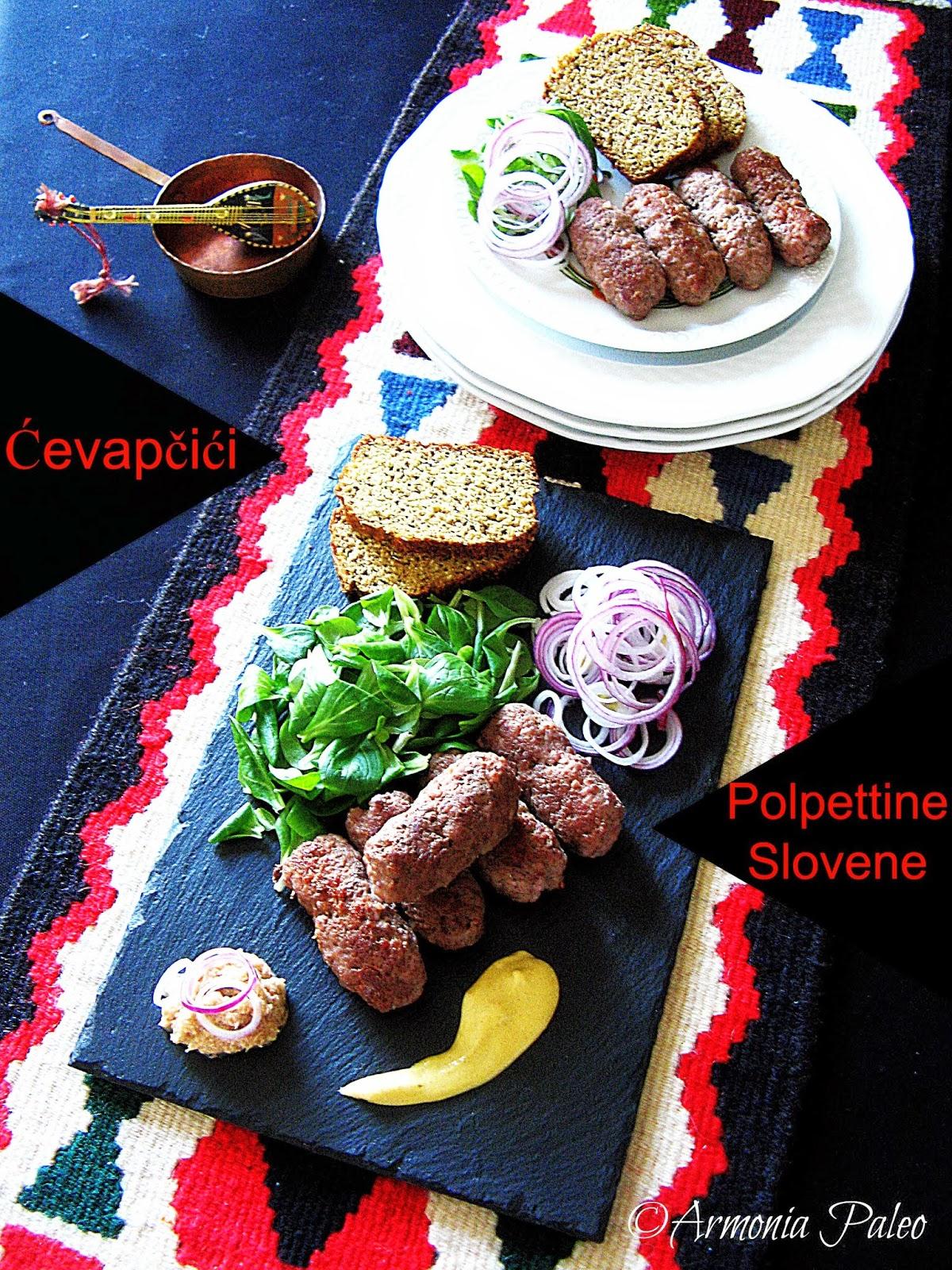 Ćevapčići - Polpettine Slovene di Armonia Paleo