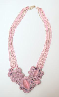 sutasz naszyjnik  soutache necklace  7a