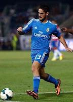 Isco Alarcon en partido con el Real Madrid