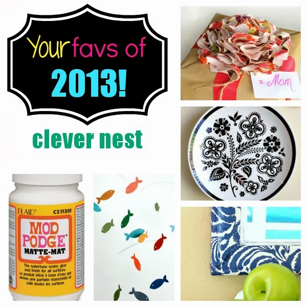 A year's worth of DIY projects! Clever Nest #modpodge