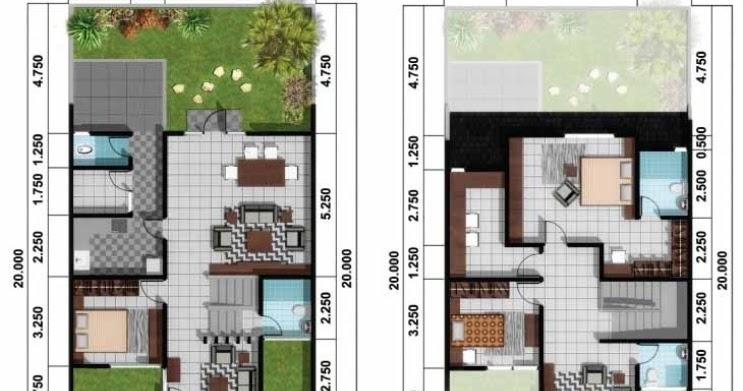 denah rumah minimalis 2 lantai atau rumah tingkat desain