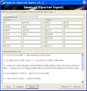 Chemical Equation Expert: Software Persamaan Kimia