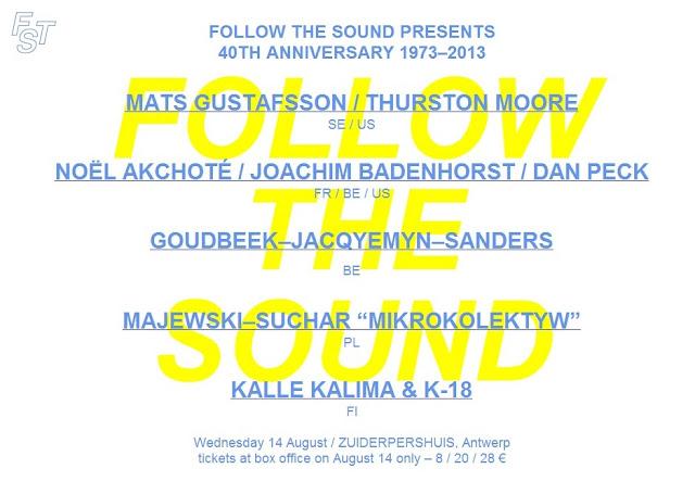 Follow The Sound viert 40ste verjaardag met Kamikazeconcertdag op 14 augustus