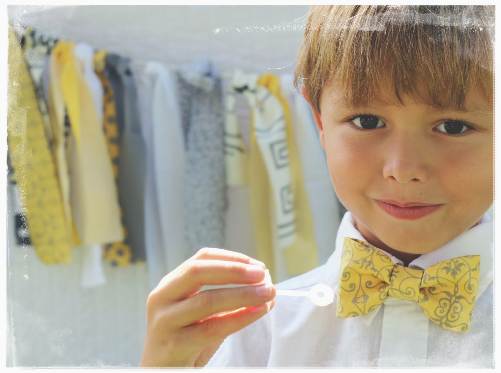 Because I'm Me yellow and gray bowtie