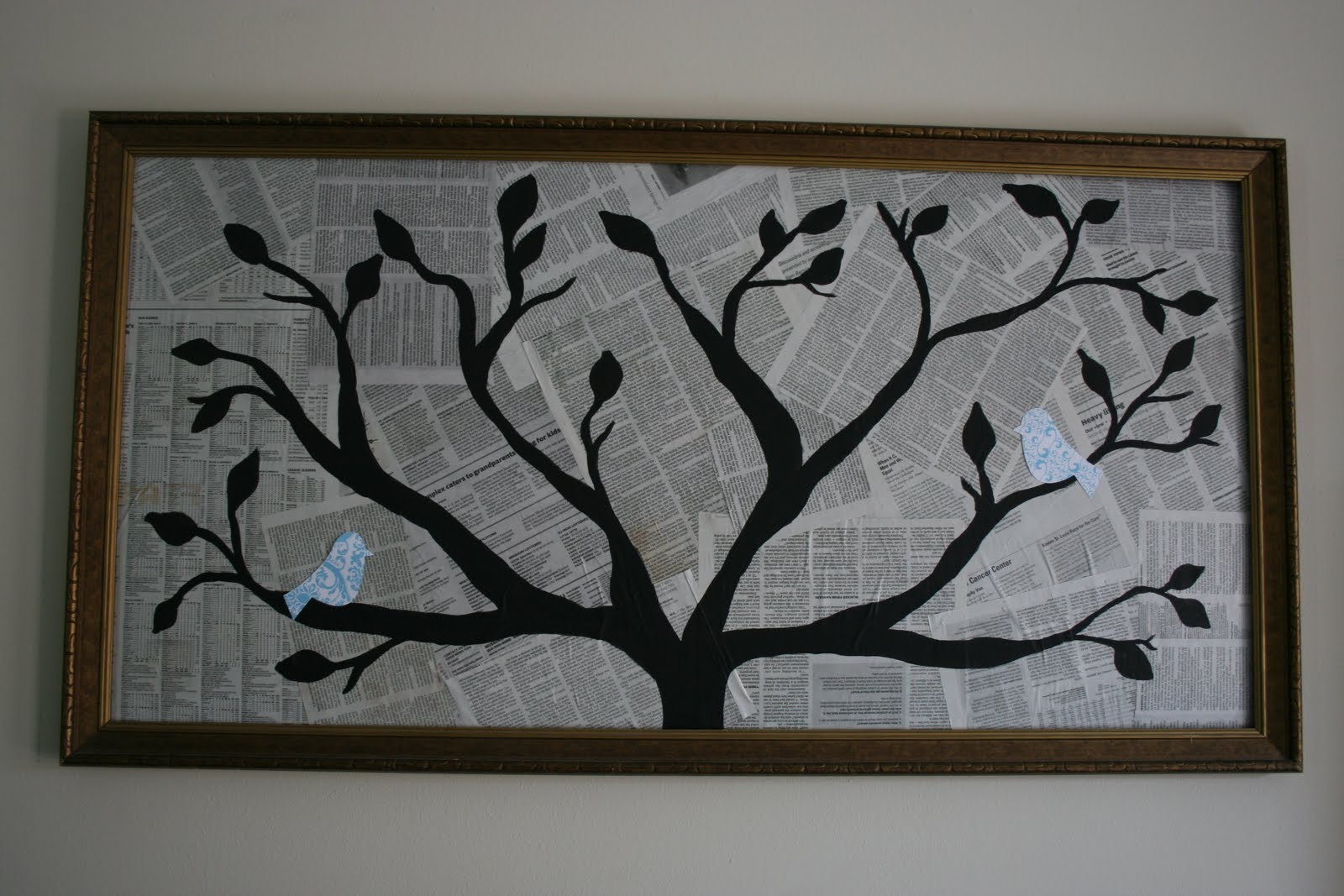 Aimee bee diy tree silhouette painting What do we call a picture painted on a wall