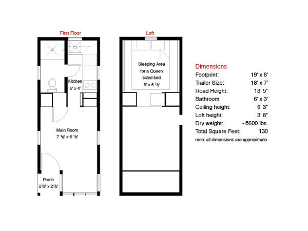 Small scale homes tumbleweed fencl in new york for Tumbleweed floor plans