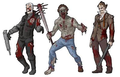Zombicide ZOmbie survivor zombivore guillotine games Moustache Gang