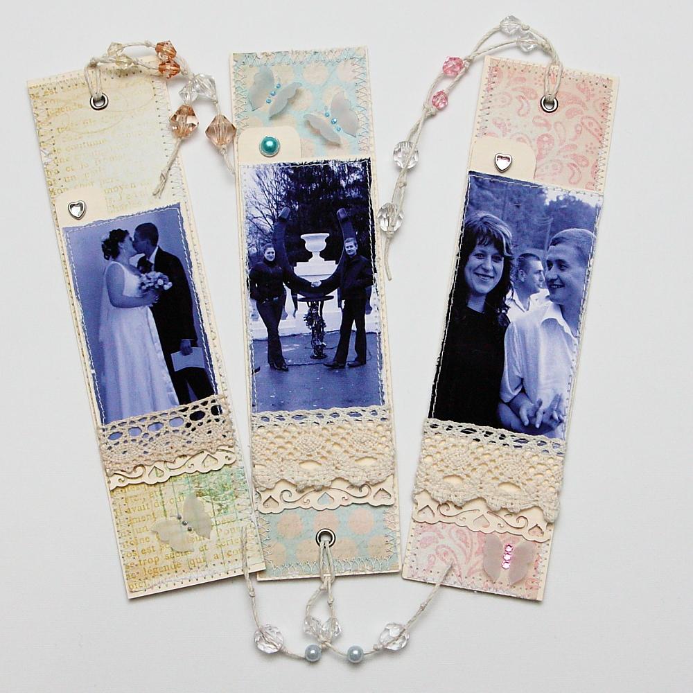 Закладки с фотографиями своими руками