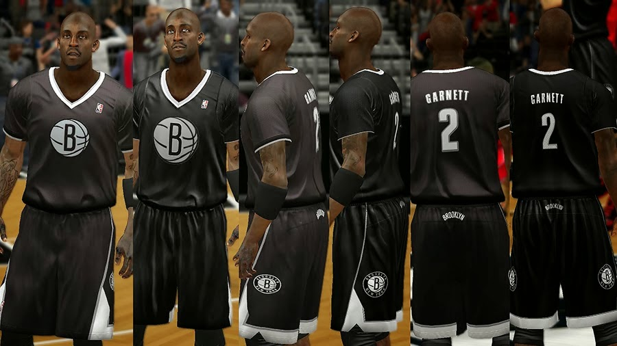 NBA 2K14 Christmas Day Uniform - Brooklyn Nets
