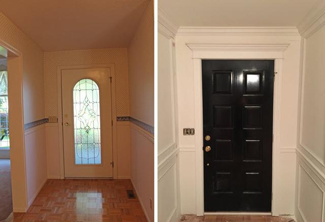 marcus design reno project update entry progress. Black Bedroom Furniture Sets. Home Design Ideas