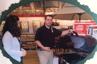 Sears Lawn and Garden Hardware sporting goods salesmen selling barbecue equipment