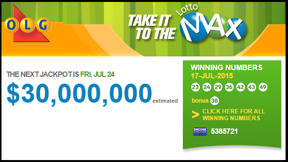 Lotto Max $55 Million Dollar Winning Ticket Number Sold Somewhere in Quebec (Eastern Canada)