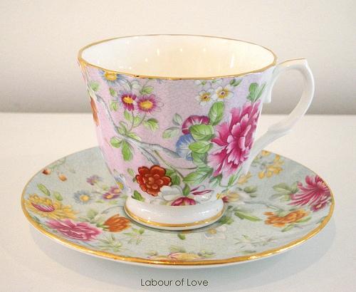 vintage teacup tea cup-#29