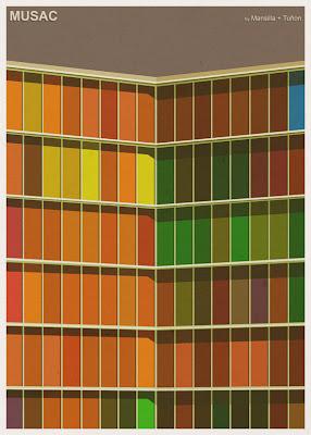 MUSAC - Mansilla + Tuñon Arquitectos - Posters de Arquitectura Minimalistas de André Chiote