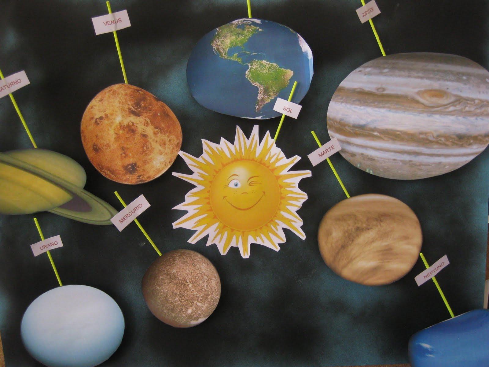 como hacer el sistema solar en maqueta