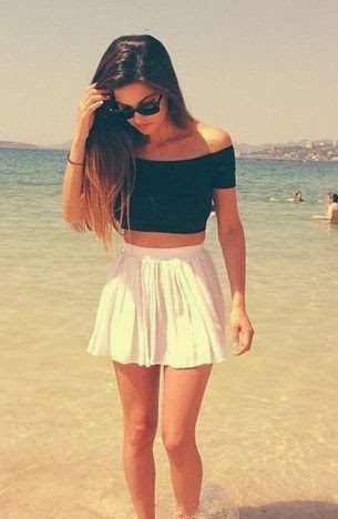 circle skirt with crop top